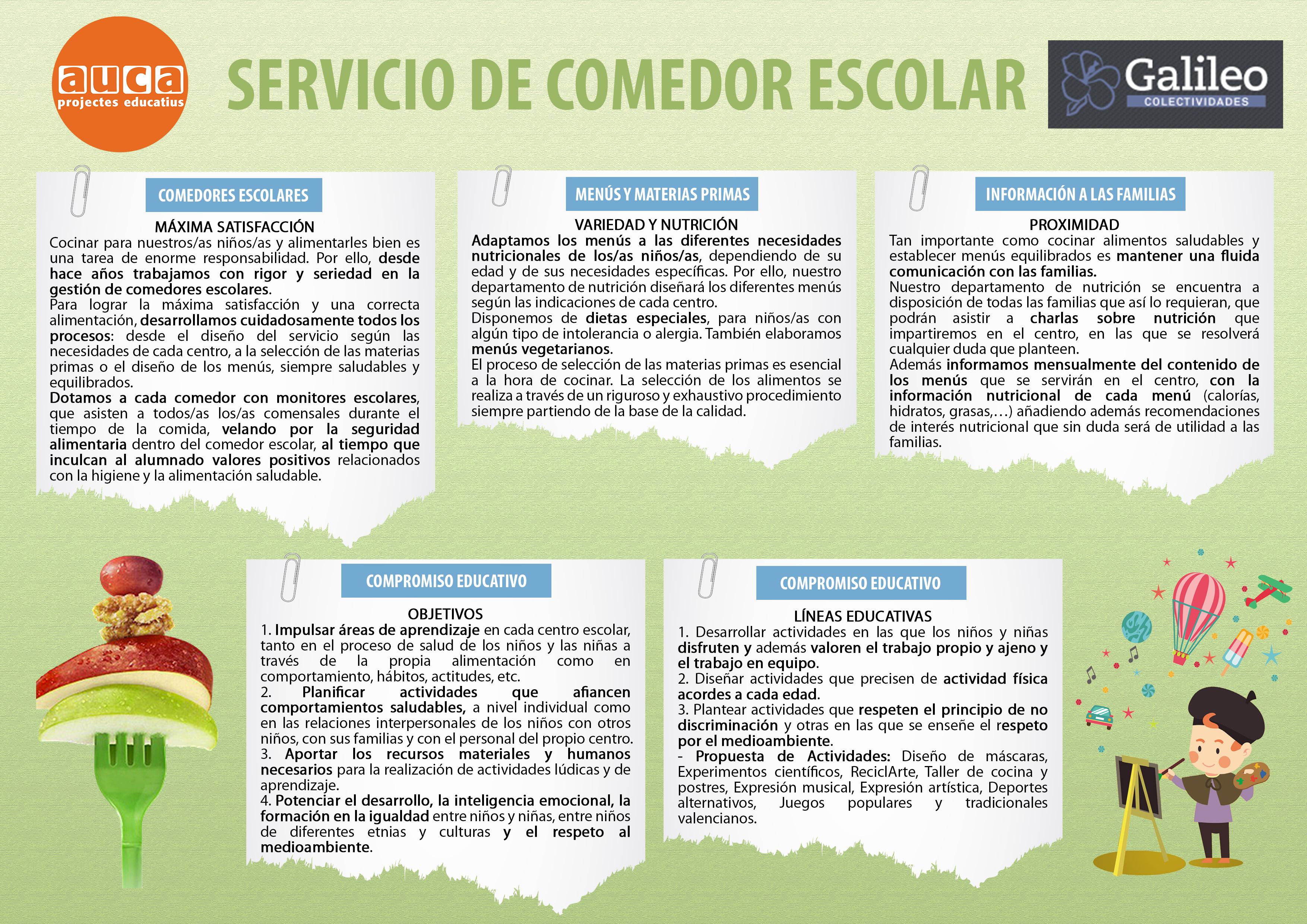 Auca projectes educatius servicios socioculturales for Trabajo de comedor escolar