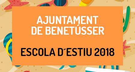 Escuelas de verano 2018 AJUNTAMENT DE BENETUSSER