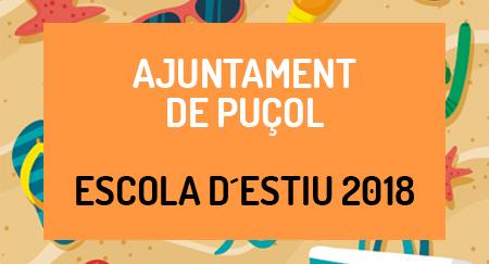 Escuela de verano 2018 AJUNTAMENT DE PUÇOL