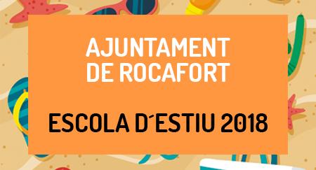 Escuela de verano 2018 AJUNTAMENT DE ROCAFORT
