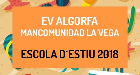 Escuela de verano 2018 EV ALGORFA MANCOMUNIDAD LA VEGA