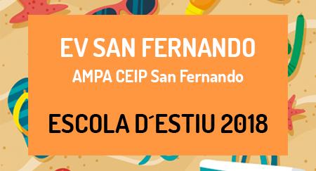 Escuela de verano 2018 EV SAN FERNANDO AMPA CEIP San Fernando