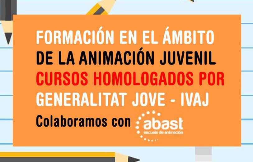 Auca Projectes Educatius colabora con Abast en Formación en el ámbito de la animación juvenil - Cursos Homologados por el IVAJ Genaralitat Valenciana